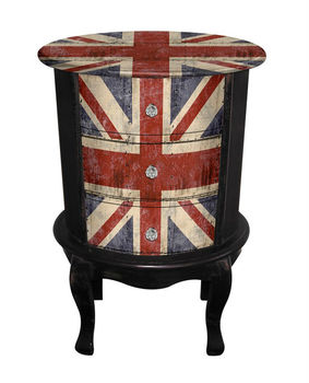 union jack furniture. Union Jack Flag Antique Wooden Nightstand Bedroom Furniture With Black Leg Union Jack