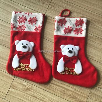 decorated big size christmas sock for kidsfelt christmas stocking - Where To Buy Christmas Stockings