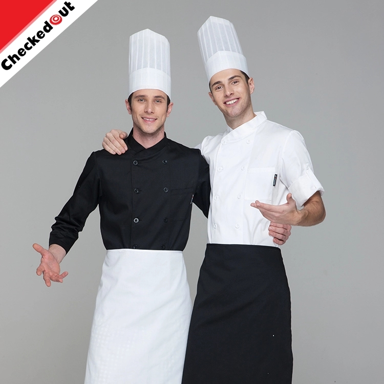 Unisex chef jas restaurant hotel uniform professionele CHEF UNIFORM executive chef jas