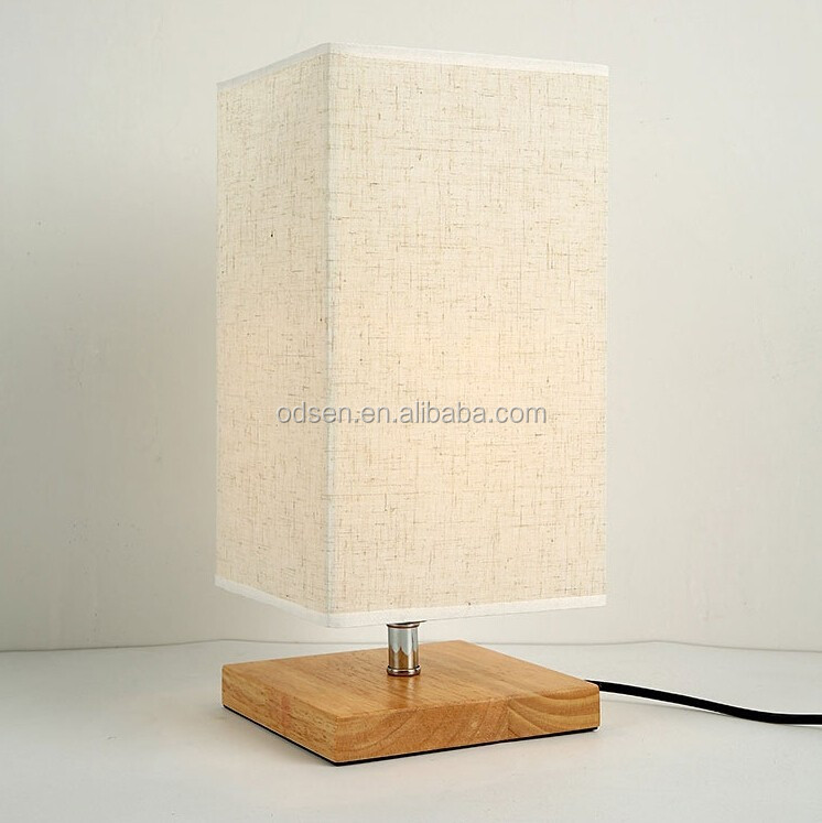 wooden base wholesale table lamps