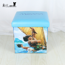 Hot Sale New products cartoon design leather stool home storage box chair