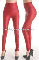 Wholesale Hot Sale leather tights faux red leather leggings for women