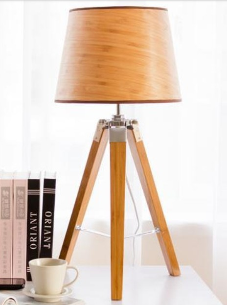 Get Quotations · Hot Selling Eurpean American Fashion Brief Modern Bamboo Tripod  Table Lamp,Wooden Triangle Desk
