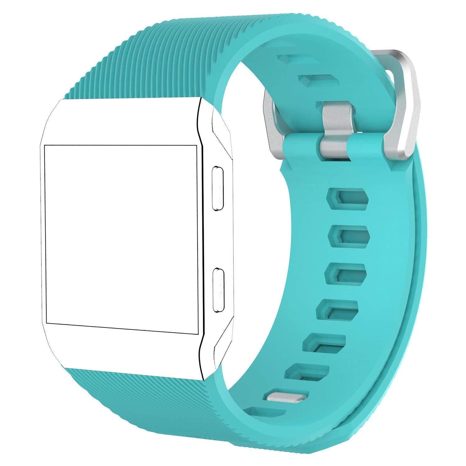 iRECOO-Fitbit Ionic Quick Fit Replacement Bands,Silicone Smart Watch Replacement Bands for Fitbit Ionic. (Mint Green)