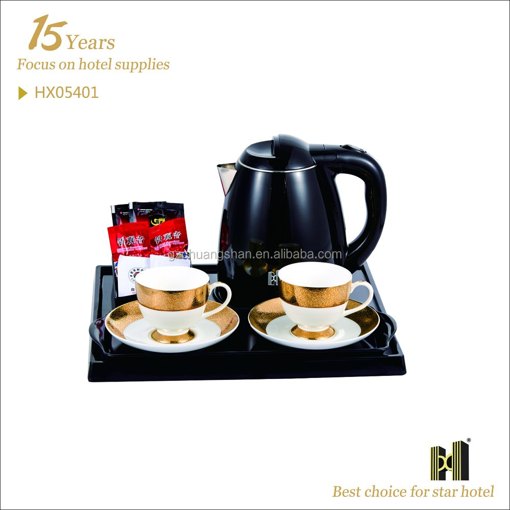 1.2 L Stainless Steel Electric Tea Kettle Tray Set