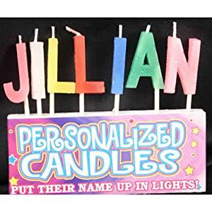 Get Quotations Jillian Letter Shaped Birthday Candles