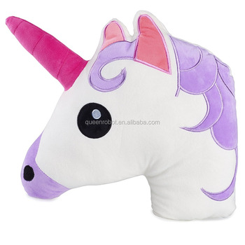 Soft Plush Animal Shaped Unicorn Emoji Pillow Cushion CE EN71 Approved OEM