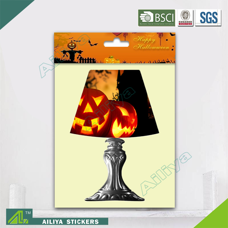 BSCI factory audit Halloween removable non toxic decorative led lamp 3D wall sticker