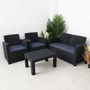 Plastic Rattan Sofa Set With Cushion Supplieranufacturers At Alibaba