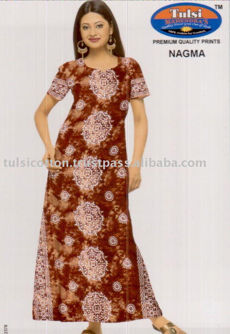 Womens Cotton Printed Nightwear - Buy Womens Cotton Printed ...