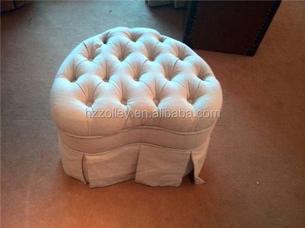 Antico pouf letto piede sgabelli soggiorno in tessuto imbottito