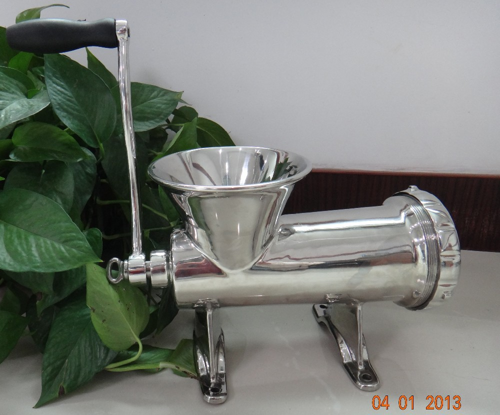 HZ32 304 Stainless Steel Mincer Manual Pully Meat Grinder  Sausage Filler For Dogs or Animals People Kitchen Use as Nutritions