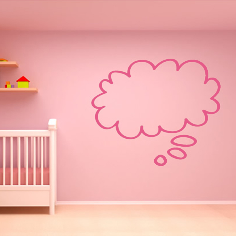 Cute Baby Room Decorative Sch Bubble Cloud Wall Stickers Diy Removable Home Decor Vinyl Simple Wallpaper