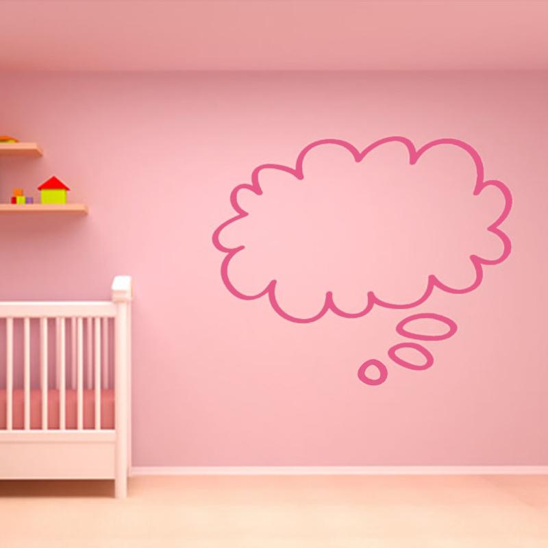 Cute Baby Room Decorative Speech Bubble Cloud Wall Stickers DIY Removable Home Decor Vinyl Simple Wallpaper