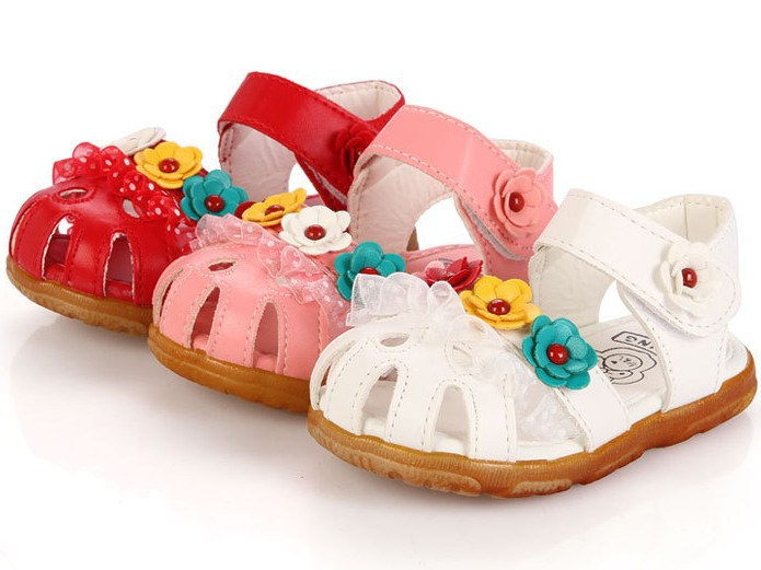 2015 Summer Baby Girls Sandals Lace Flower Children Shoes Sandalias 1 Pair ZZ3148