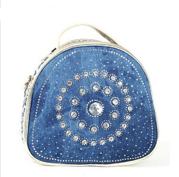 22e0aee609a Get Quotations · Shoulder bags for Women 2015 Women Denim Handbags Fashion  Rhinestone shell Bags Women s summer Handbags