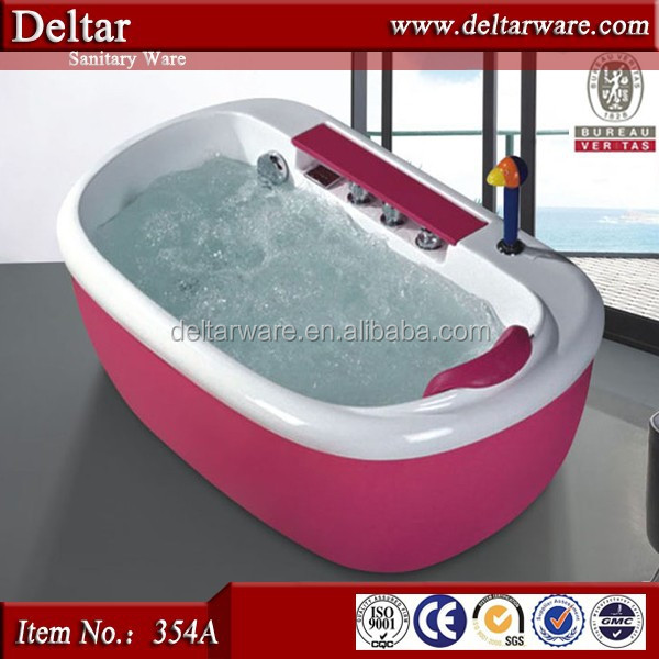 Baby Bath Tub With Stand,Red Children Kids Tub,Acrylic Bathtub Color ...
