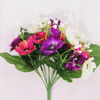 Cheap Wholesale Artificial Plastic Flower Silk Orchid Decorative