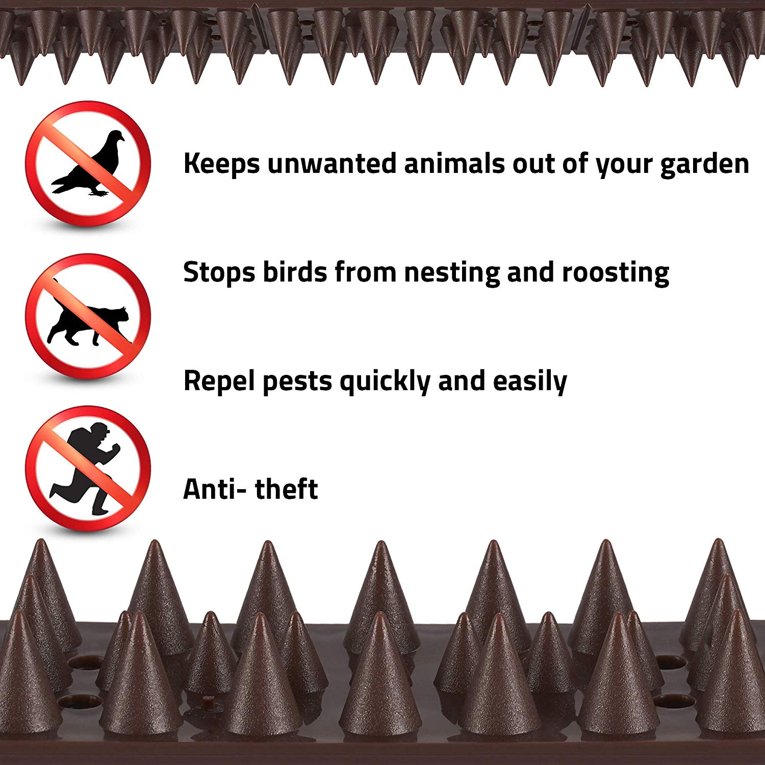 Uv Resistant Anti Bird Pigeons Spikes Strips For Cat And