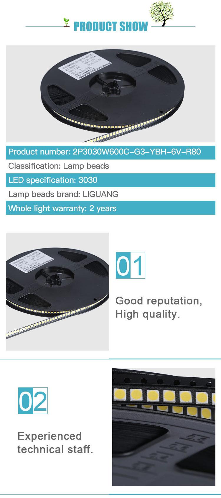 Toptan yüksek güç Özelleştirilebilir 6 volt pcb adreslenebilir 3030 SMD 1 watt 3 watt LED çip