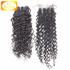 No Shedding No Tangle Raw Indian Curly Hair 8A Grade Indian Virgin Hair Bundles With Lace Closure