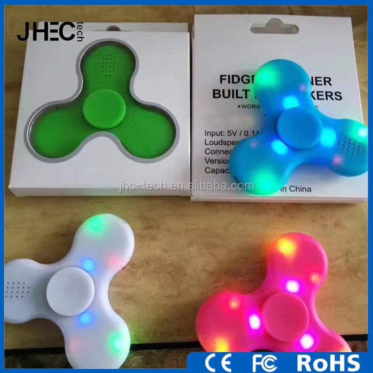 Hot selling anti restress bluetooth hand spinner finger gyro speaker with led light and music
