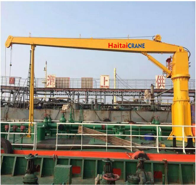 China column fixed hydraulic ship deck crane