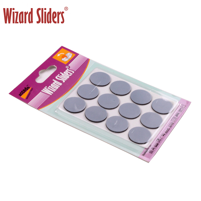 Round ptfe magic sliders with strong adhesive