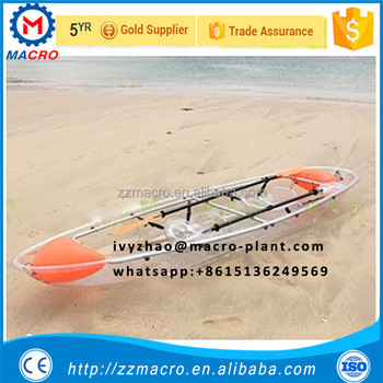 Transparent Boat With Clear Bottom/ Plastic Canoe Ocean Kayak - Buy Flat  Bottom Boats,Kayak Boats Sale,Transparent Boat Product on Alibaba com