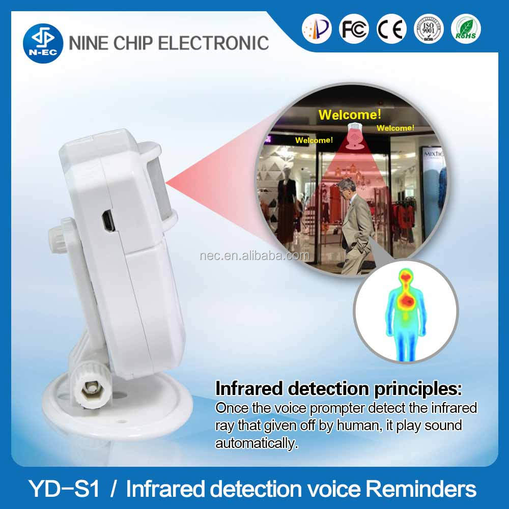 Pir home security motion sensor and infrared induction doorbell alarm system