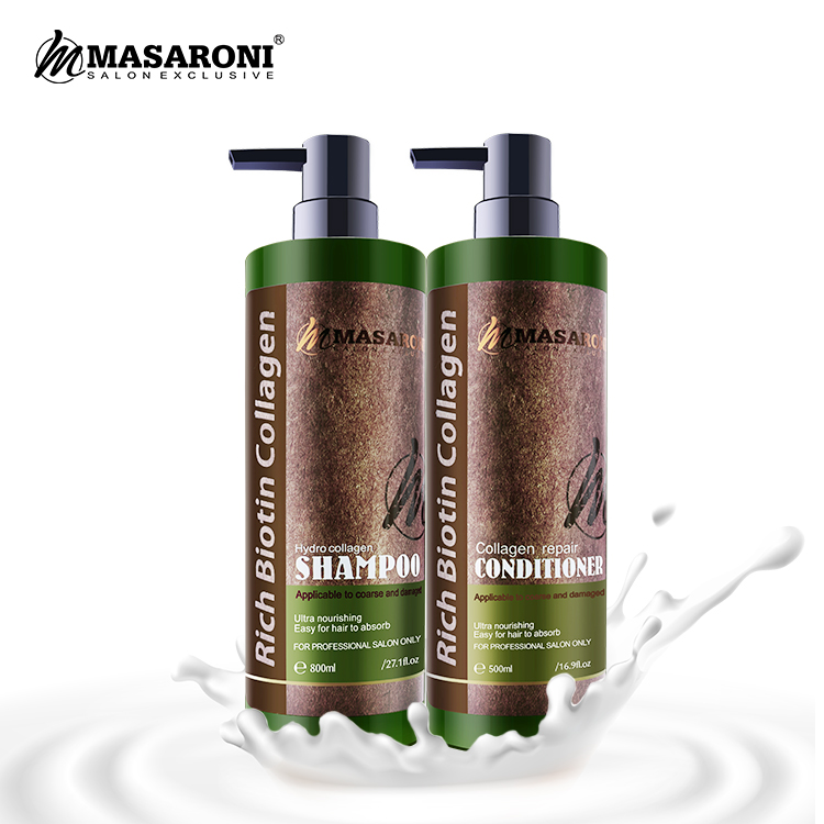 Commercio all'ingrosso Masaroni Collagene Smoothing I Danni Dei Capelli Riparato Idratante Cura Salone di Cura del Cuoio Capelluto Anti-forfora Anti-Prurito Shampoo