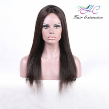 26 Inch Virgin Indian Human Women Hair Raw Unprocessed Straigth Lace Front Wig For Asian Women