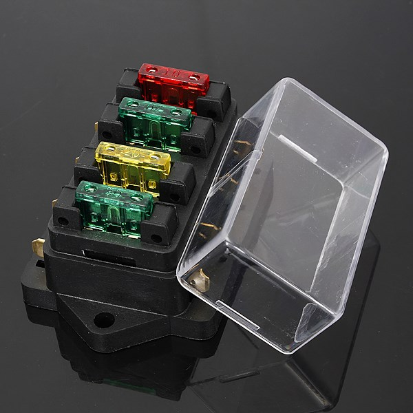 Detail Feedback Questions About 12 24v Fuse Holder Box 4 Way Car