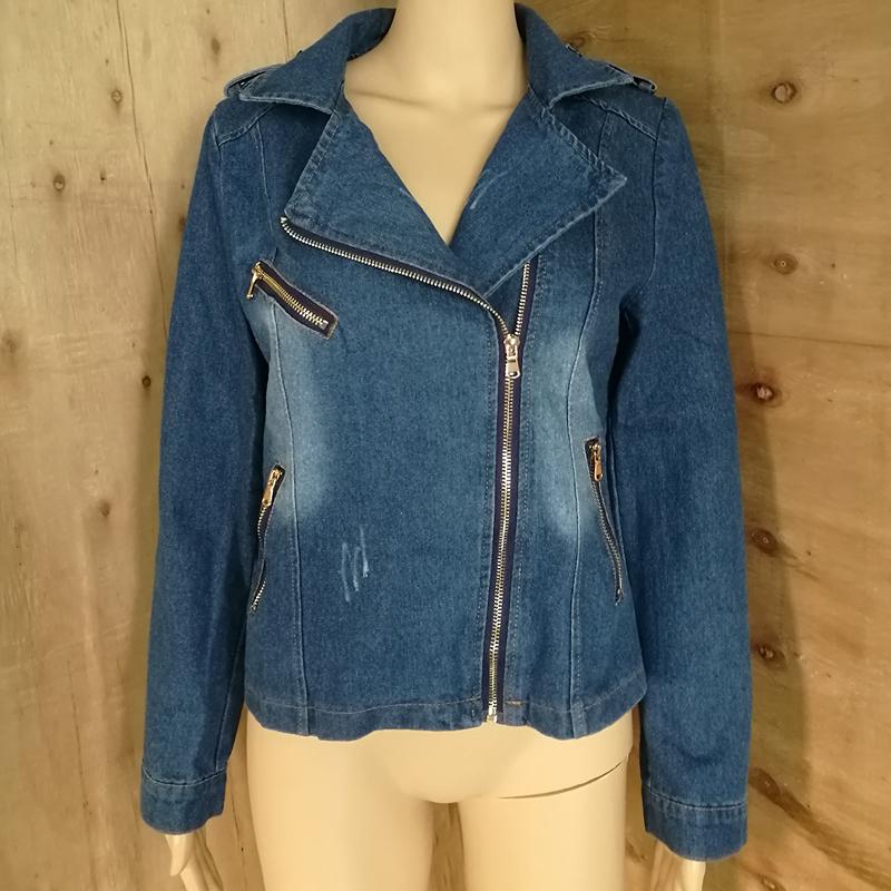 cb79a2848fc46 Wholesale Women Denim Jacket 2017 Fashion Spring Autumn Vintage Jean ...