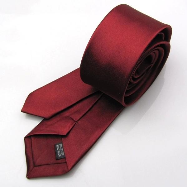 1 шт шт приталенный узкий стрелка галстук узкие сплошной цвет атлас 5 см Corbatas перевязка для мужчины