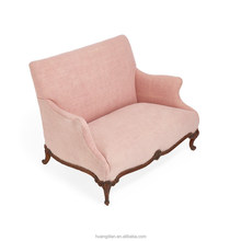 Pure Vintage Pink Hemp Loveseat armchair furniture cheap furniture