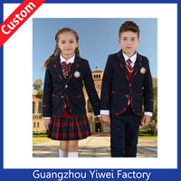 Fashion school uniform design , New kids school uniform , custom make bulk school uniforms