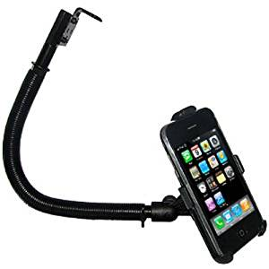 Amzer 15-Inch Steel Gooseneck Floor Mount for iPhone 1G and 3G/3GS - Black