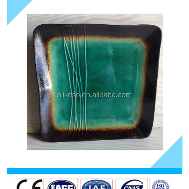 8.5\u0027\u0027 cheap square green stoneware restaurant plates top sale china bulk ceramic dinner  sc 1 st  Alibaba : square green plates - pezcame.com