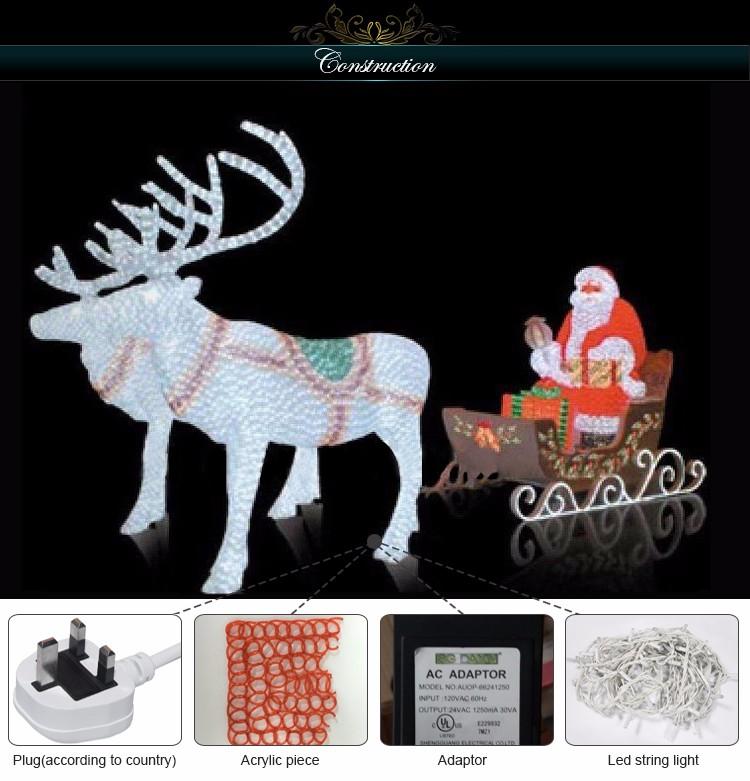 Hot Sale Acrylic Led Christmas Lighted Polar Bear Outdoor Decoration Light