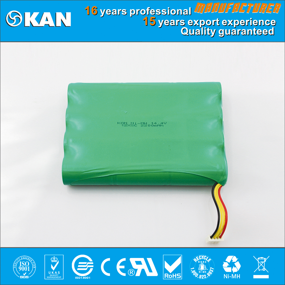 KAN Ni-MH 14.4v 12xSC 2200mAh rechargeable batteries pack for vacuum cleaner,small home appliances