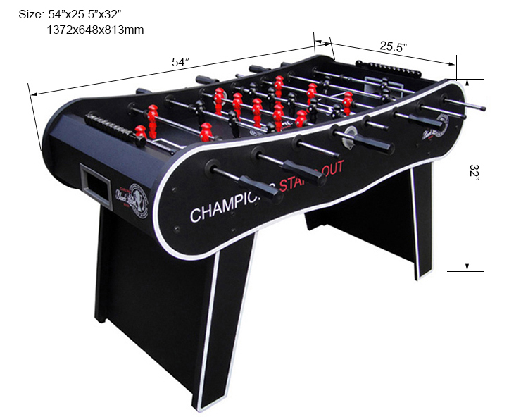 "SZX 54"" Quality modern foosball table huizhou for sale"