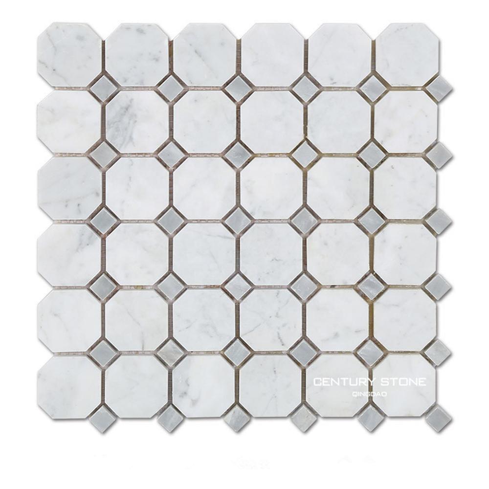 Carrara Marble Mosaic Tile Square