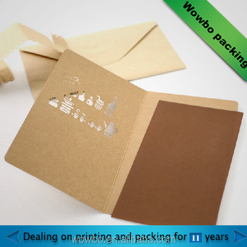 Gift Decorative Kraft Paper Christmas Card Recycle Material Thank You Custom Fancy Birthday