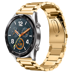 Gold Watch Band 22mm Watchband  Stainless Steel Strap For Huawei Watch GT