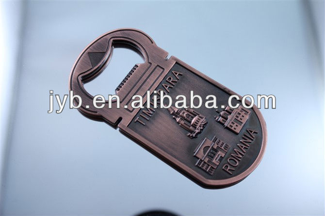 Custom old bronze metal bottle opener key chain&convenient key holder