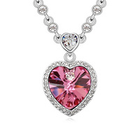QS106 Custom Necklace European and American jewelry female crystal necklace high-end pendant womens jewelry