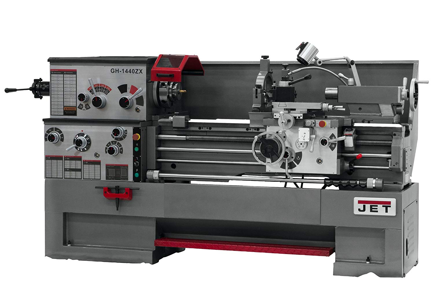 JET GH-1440ZX-TAK Lathe with Taper Attachment Installed