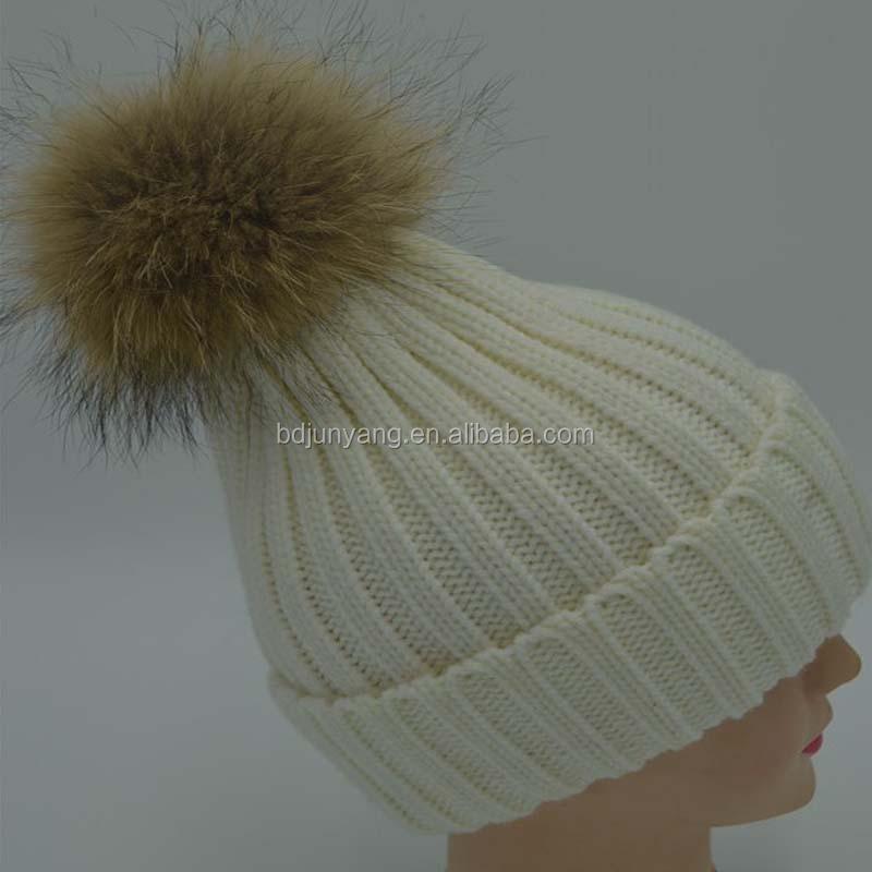 Make Your Own Fur Ball Beanie Hat Fake Fur Pompoms Pom Pom For Hats ... 1238d4aff4f