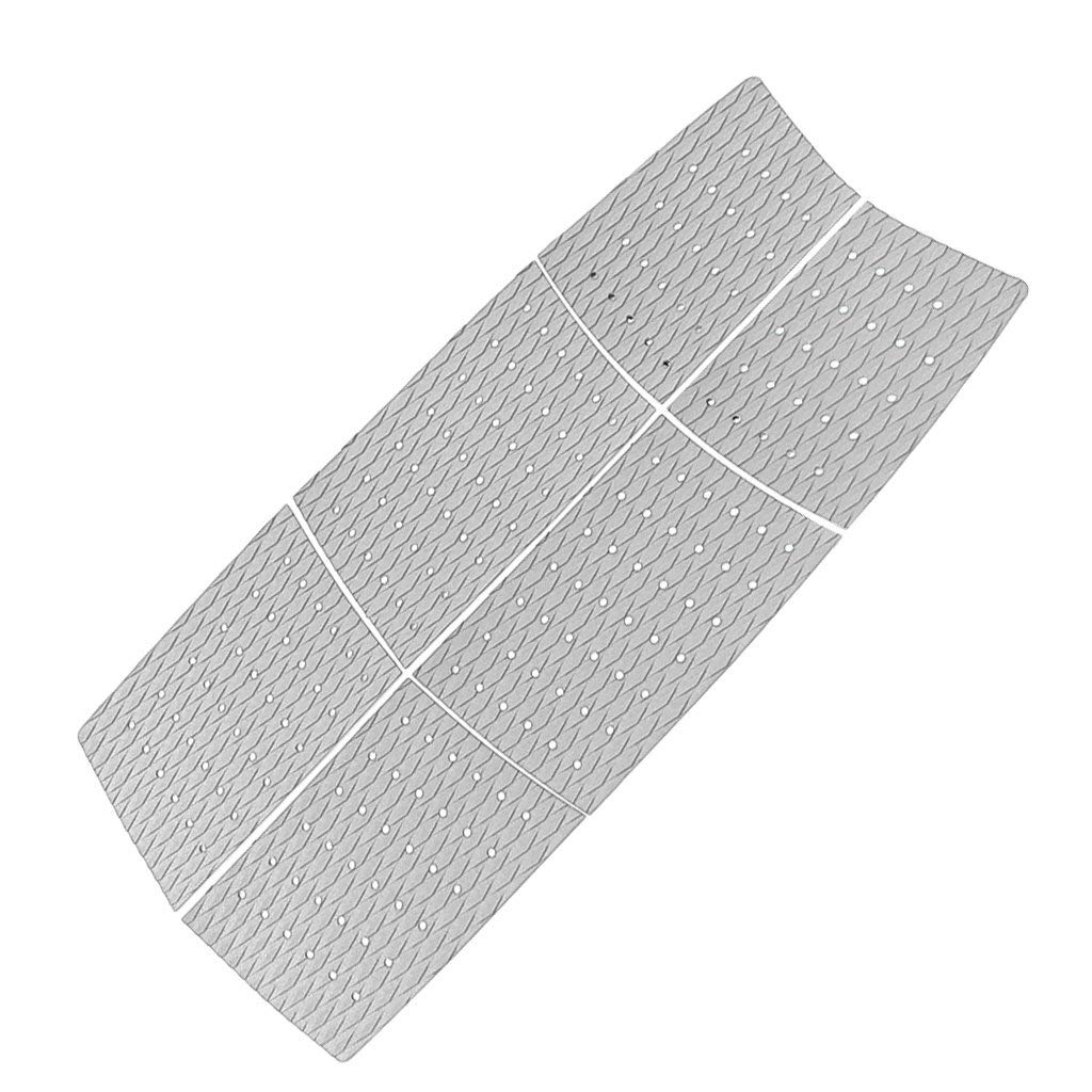 Prettyia 6pcs Diamond Grooved EVA Surfboard Surf Traction Pad Deck Grip Tail Pads Gray